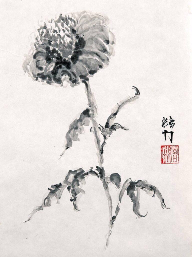 Art by HombretheArtist (aka Erik Hombre Gudowski) Sumi-e Flowers 1
